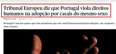 Tribunal Europeu diz que Portugal viola direitos humanos na adopção por casais do mesmo sexo   PÚBLICO