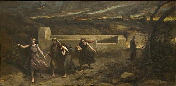 Destruição de Sodoma, por Camille Corot (1796-1875)