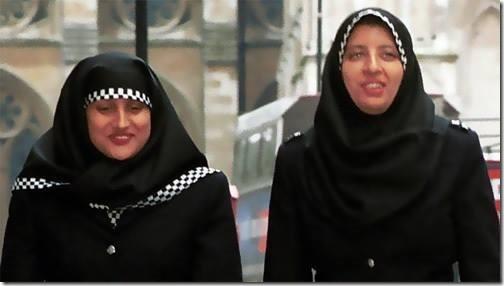 policia islamica em Londres