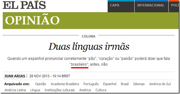 lingua brasileira