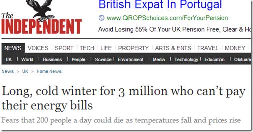 longo inverno ecológico em inglaterra