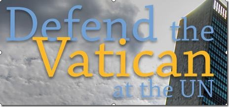 defend Vatican at UN