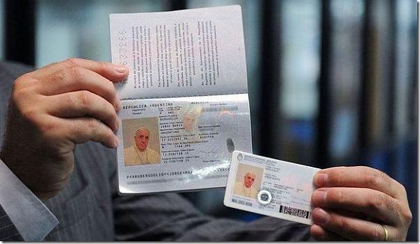 papa passaporte argentino