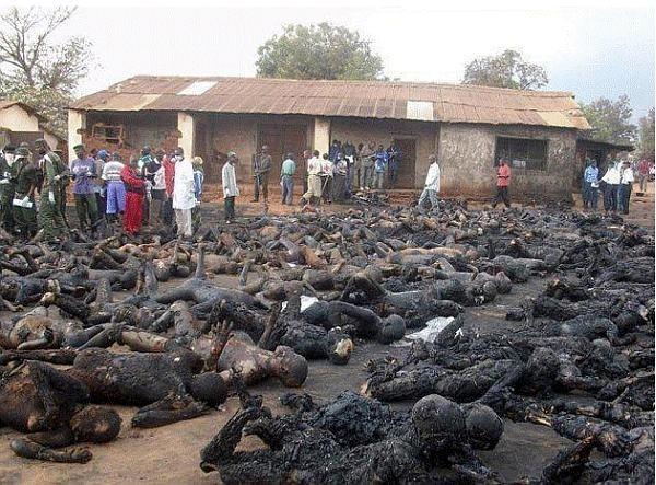 cristaos quimados vivos na nigeria web