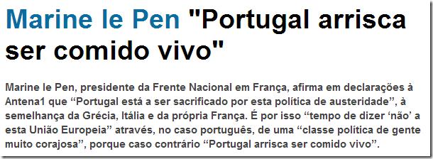 Marine Le Pen Portugal comido vivo web