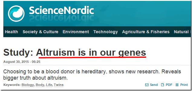 ltruismo genetico