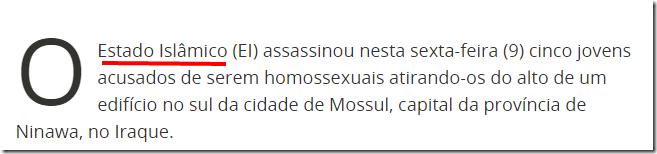 EI joga 5 gays de alto de edifício no Iraque