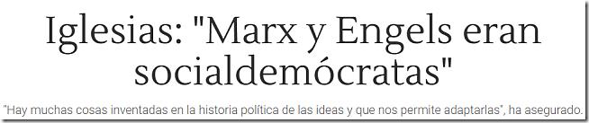 Marx y Engels eran socialdemócratas