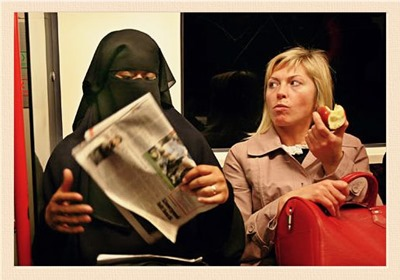 mulher islamica em inglaterra kodachrome